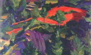 Картина Рерих С.Н. амарантовое поле. 1938.