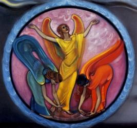Картина Рерих С.Н. ангелы снова будут петь (фрагмент). 1976.