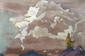 Рерих Н.К. Белые кони. 1925.