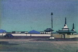 Рерих Н.К. Батухалка. Столица Внутренней Монголии. 1936.