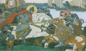 Рерих Н.К. Александр Невский поражает Ярла Биргера. 1904